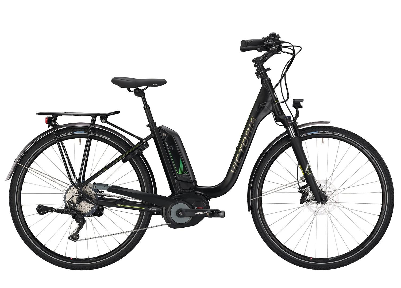 victoria e trekking 8 9 e bike schwarz gr n modell 2019. Black Bedroom Furniture Sets. Home Design Ideas